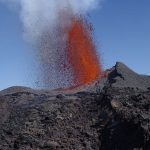 Le Piton de la Fournaise en éruption